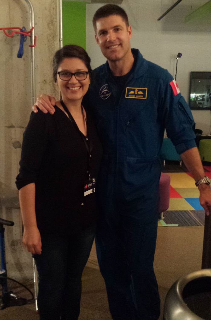 With Canadian astronaut Jeremy Hanson
