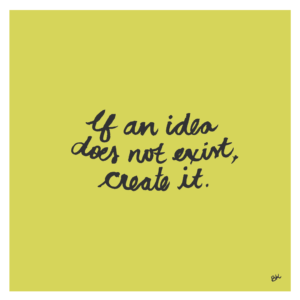 If an idea does not exist, create it hand lettering