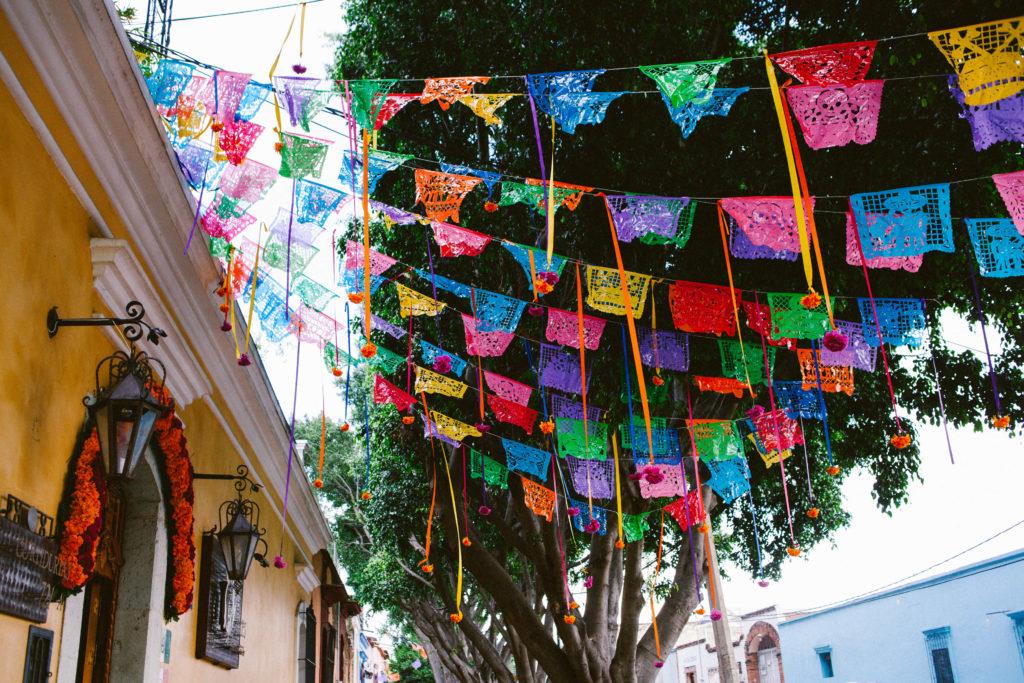 Papel picado in Oaxaca, Mexico