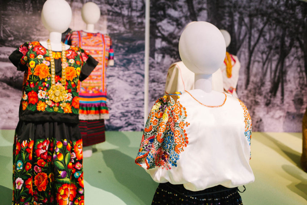 Traditional dresses at the Museo de Arte Popular
