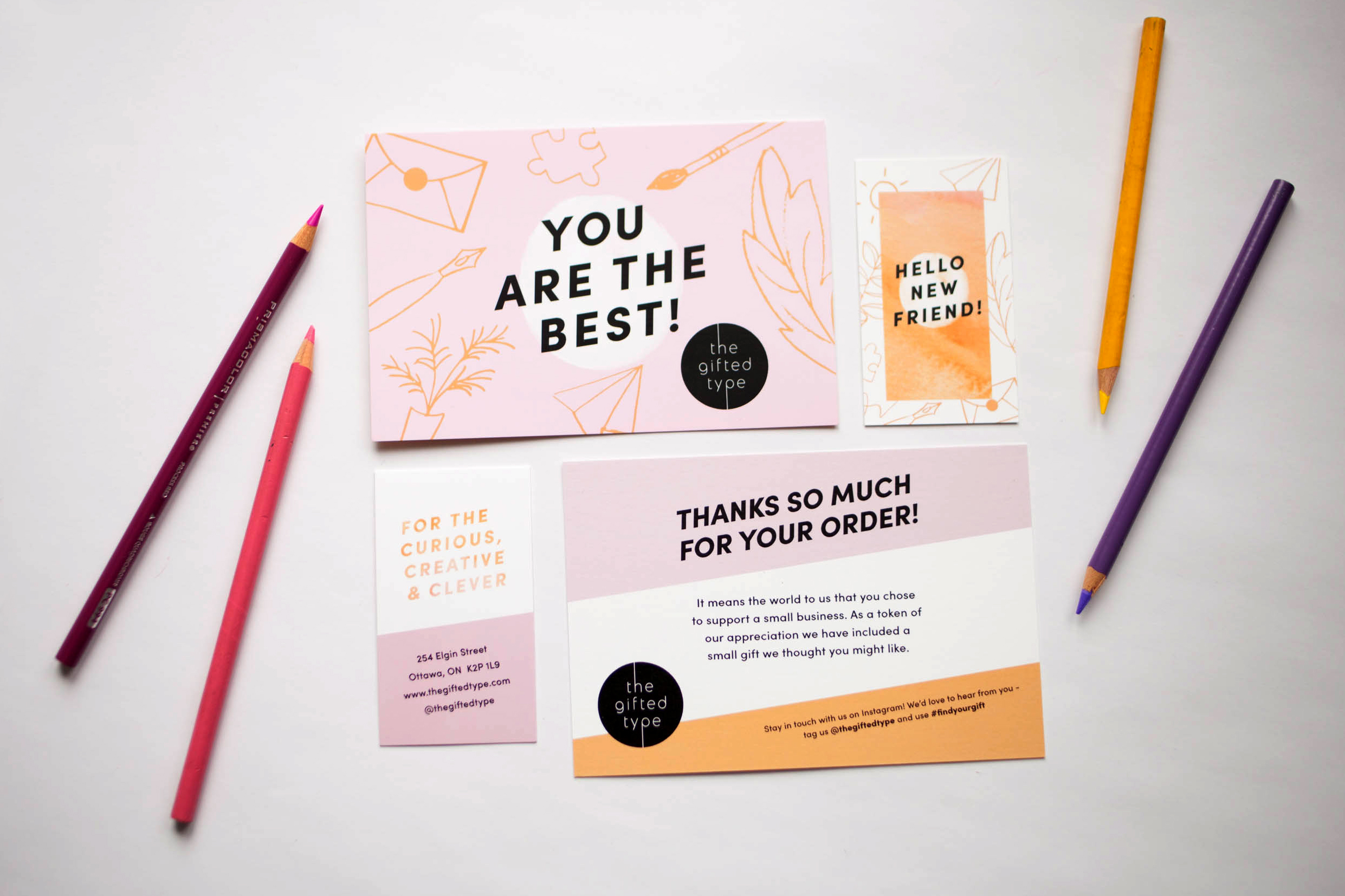 Thank you card design for Ottawa retail store