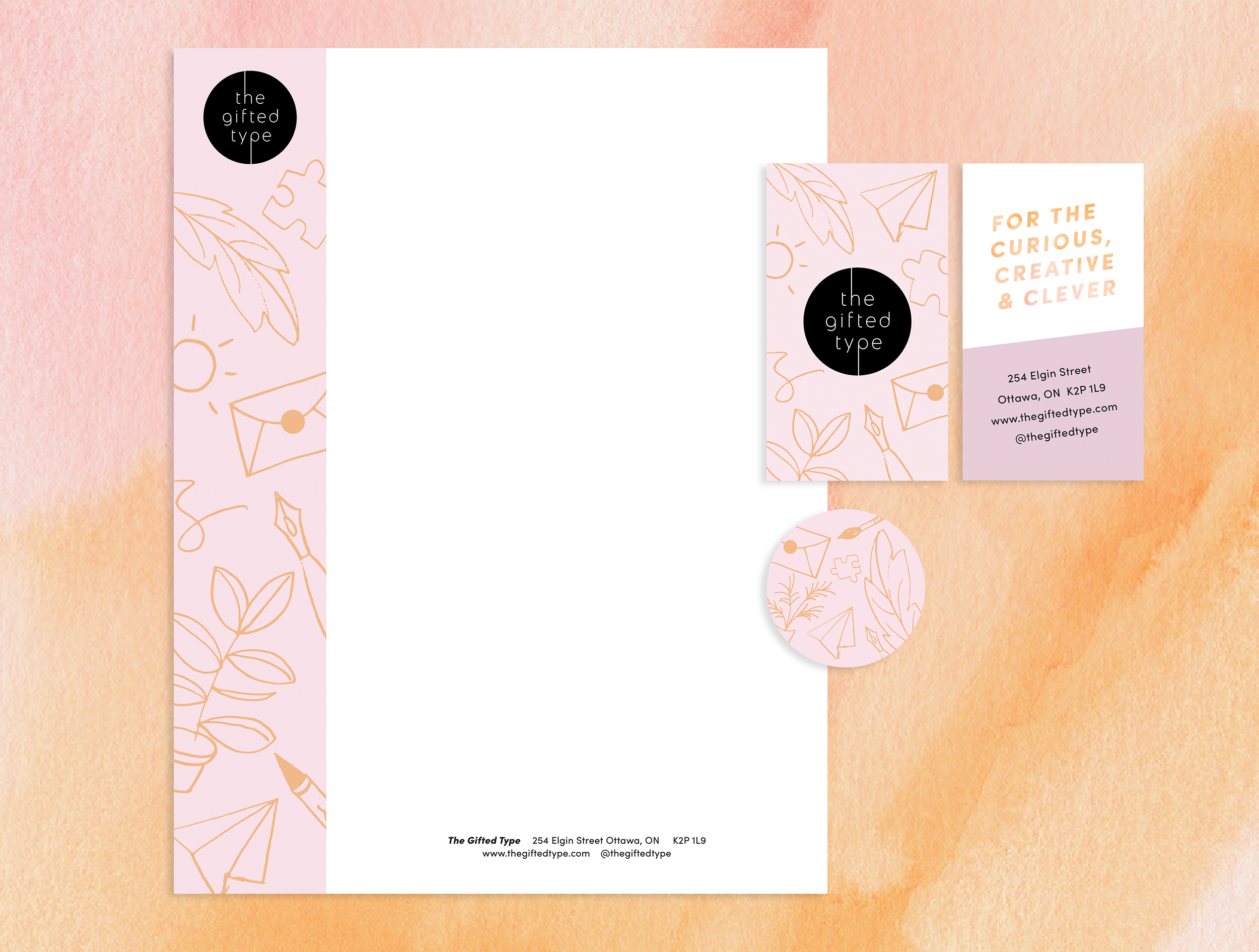 Stationery and brand design for Ottawa retail shop