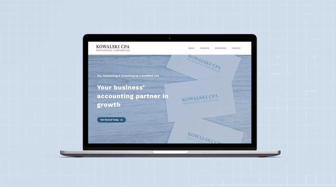 Accountant website design home page