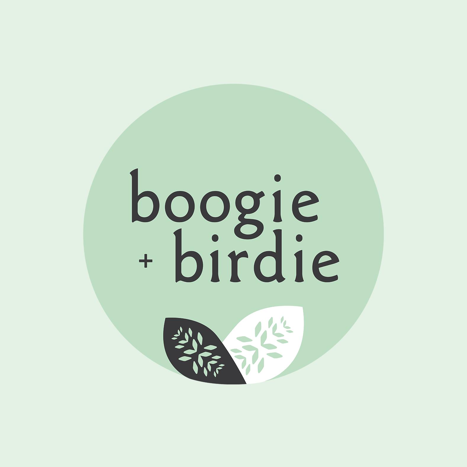 Logo for boogie + birdie Ottawa gift shop